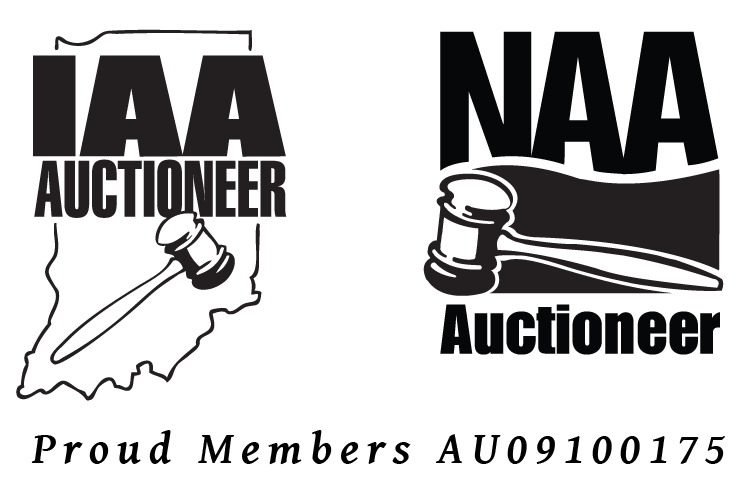 National Auctioneers Association and Indiana Auctioneers Association logos